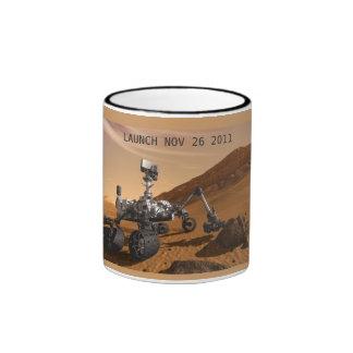 Conmemorar el lanzamiento de la curiosidad Marte Taza De Dos Colores