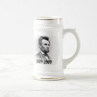 Conmemorativo bicentenario de Abraham Lincoln Jarra De Cerveza