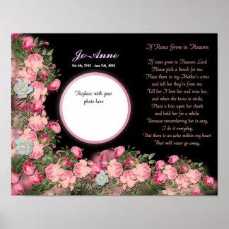 Conmemorativo - madre - SI rosas crecidos en poema Póster