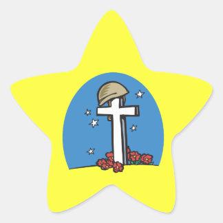 Conmemorativo Pegatina En Forma De Estrella