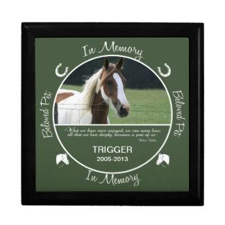 Conmemorativo - pérdida de caballo joyero cuadrado grande