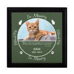 Conmemorativo - pérdida de gato cajas de recuerdo