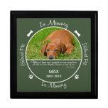 Conmemorativo - pérdida de perro caja de regalo