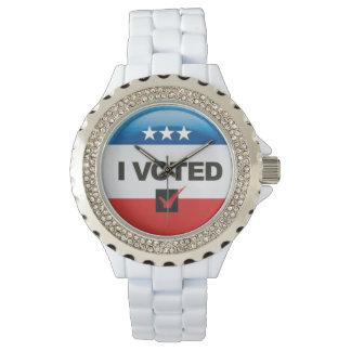 Conmemorativo • Primera elección • Voté Reloj