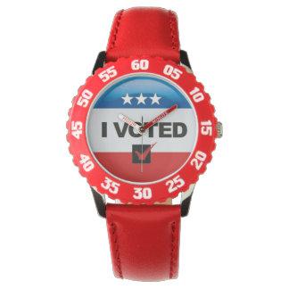 Conmemorativo • Primera elección • Voté Reloj De Mano