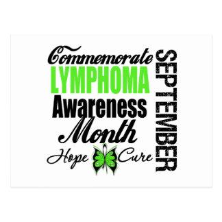 Conmemore el mes de la conciencia del linfoma tarjeta postal