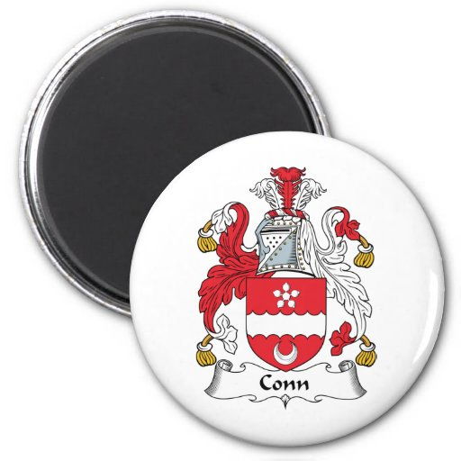 Conn Family Crest 2 Inch Round Magnet