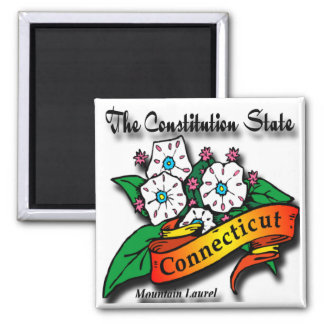 Conn Mountain Laurel Constitution State Refrigerator Magnets