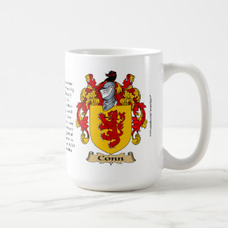 Conn name, the Origin, the Meaning and the Crest Coffee Mug