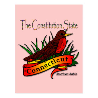 Conn Robin The Constitution State Postcard