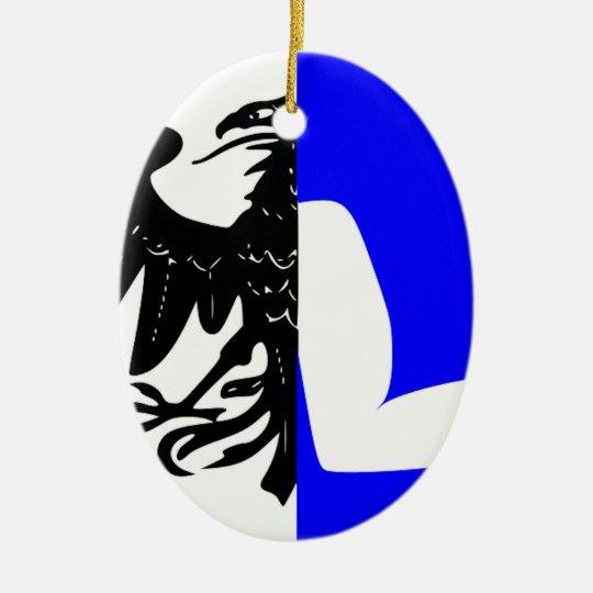 Connacht (Ireland) Flag Ceramic Ornament