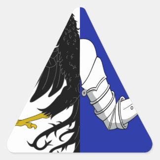 Connacht (Ireland) Flag Triangle Stickers