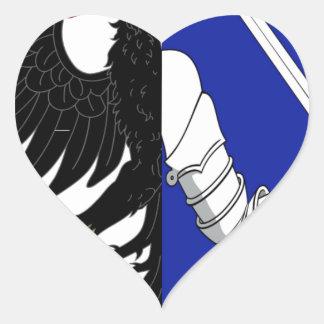 Connacht (Ireland) Flag Heart Stickers