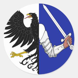 Connacht (Ireland) Flag Round Sticker