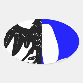 Connacht (Ireland) Flag Oval Sticker