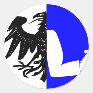 Connacht (Ireland) Flag Round Stickers
