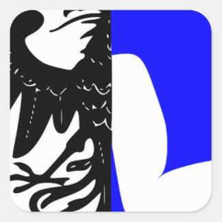 Connacht (Ireland) Flag Square Sticker