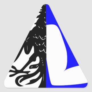 Connacht (Ireland) Flag Triangle Sticker