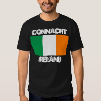 Connacht, Irlanda con la bandera irlandesa Playeras