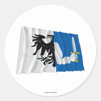Connacht Province Waving Flag Sticker