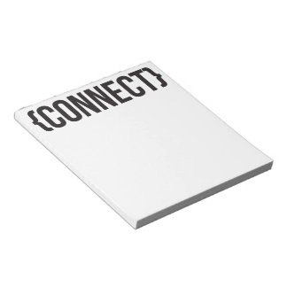 Connect - Bracketed - Black and White Note Pad