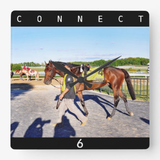 Connect - Pennsylvania Derby Winner Square Wall Clock