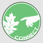 Connect with Nature Round Sticker