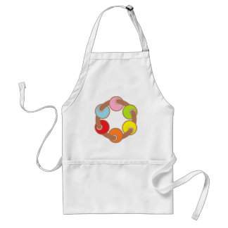 connected circles aprons