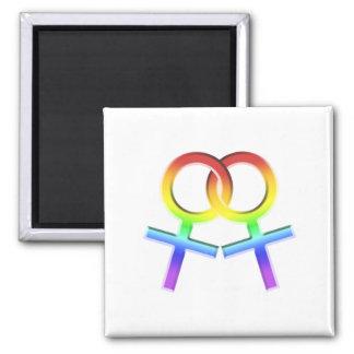 Connected Female Symbols Design Magnet 006