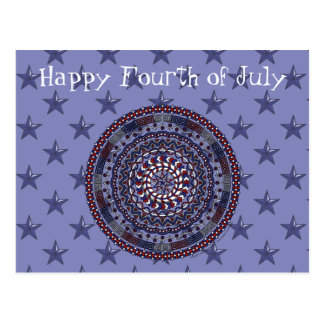 Connected Independence Day Postcard