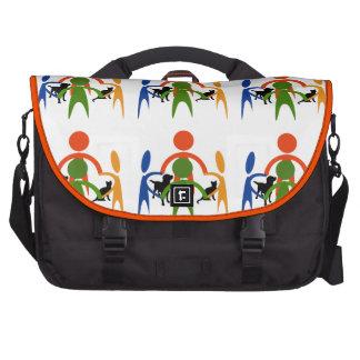 Connected laptop commuter bag