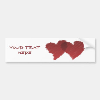 Connected Love Hearts Bumper Sticker