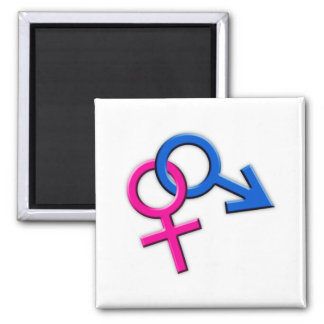 Connected Male and Female Symbols Magnet 002