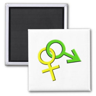 Connected Male and Female Symbols Magnet 009