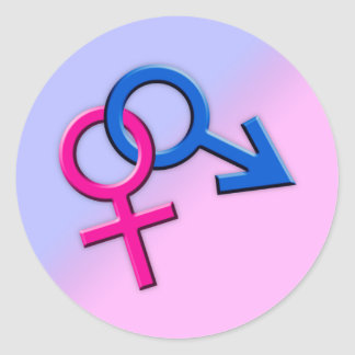 Connected Male and Female Symbols Stickers 001