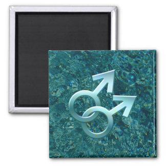 Connected Male Symbols Design Magnet 001