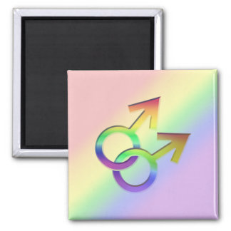 Connected Male Symbols Design Magnet 005