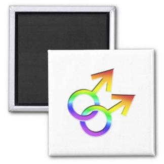Connected Male Symbols Design Magnet 006