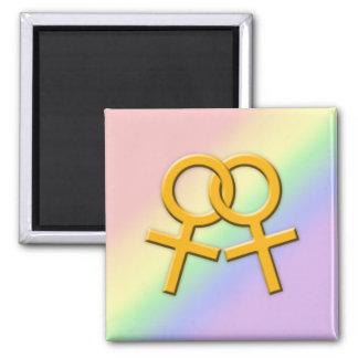 Connected Orange Female Symbols Magnet 01