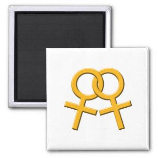 Connected Orange Female Symbols Magnet 03