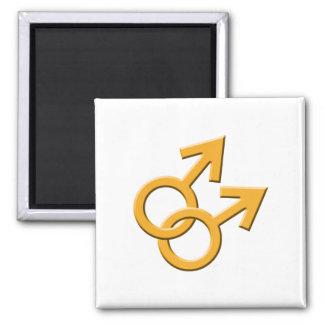 Connected Orange Male Symbols Magnet 03
