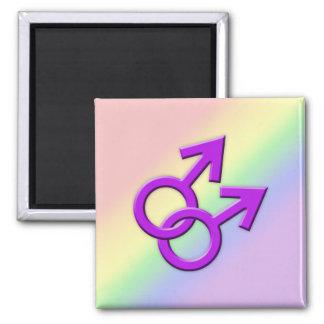 Connected Purple Male Symbols Magnet 01