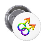 Connected Rainbow Male Symbols Button 03
