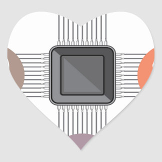 Connected to major processor heart sticker