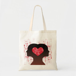 Connected with love tote bag
