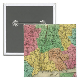 Connecticut 10 2 inch square button