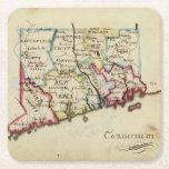 Connecticut 11 square paper coaster