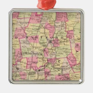 Connecticut 12 metal ornament