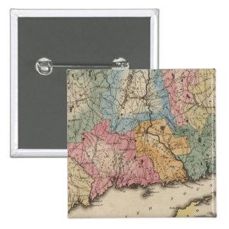 Connecticut 13 pinback button