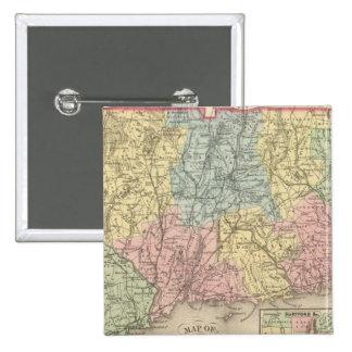 Connecticut 15 2 inch square button